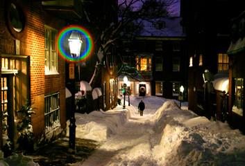 beacon hill at night