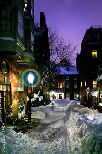 beacon hill at night