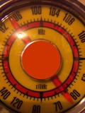 yellow radio vintage poster