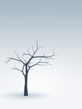 tree alone in winter poster