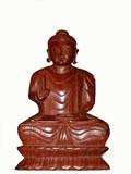wooden buddha poster
