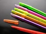 multi-coloured pens poster