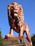 lion statue 5 poster