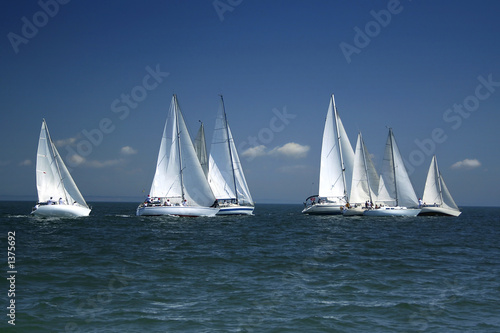 start of a sailing regatta - 1375692