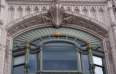 ornate window boston massachusetts