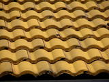 yellow tile roof poster