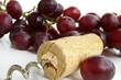 cork and grapes
