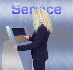 servicewomen metallic-blue