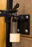 outdoor long handle lock poster