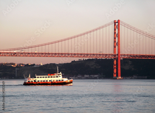 bridge over tagus river