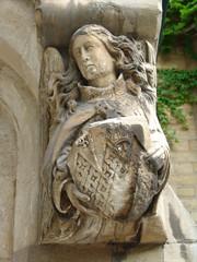 angel on doorpost