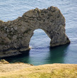 durdle door from dorset coast path england
