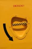 emergency door poster