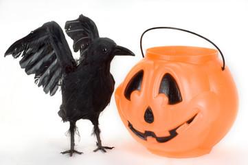 raven and candy pumpkin.
