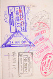 passport with stamp poster