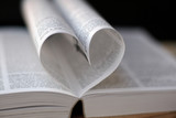 heart from book pages poster