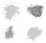 grunge splats brushes set 1 (with paths)