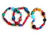 3 colorful bracelets poster