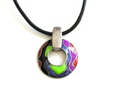colorful pendant necklace poster