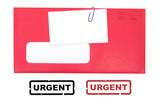 red envelope and blank business card poster