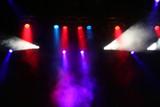concert stage lights poster
