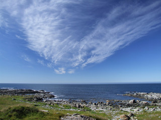 sea coast and picturesque clouds