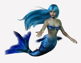 blue mermaid poster