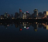 skyline city reflection poster
