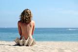 Fototapety blond girl on the beach