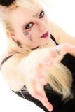 beautiful goth german teen girl poster