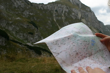 mountain map checking
