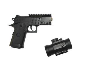 pistola con visor