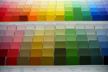 swatches of paint