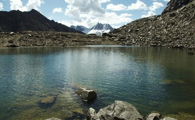 beautiful lake in the cordillera mountain