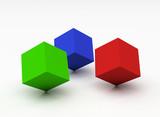 colour cubes poster
