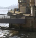 england london docklands canary wharf complex poster