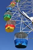 amusement park ferris wheel poster