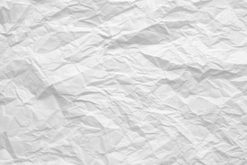 crumple  white paper