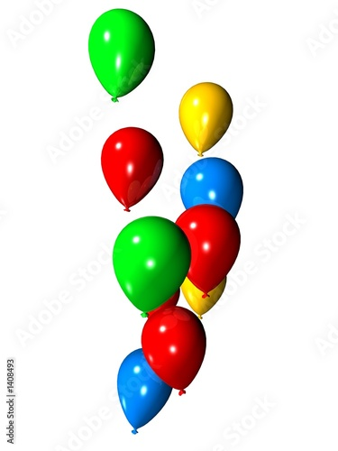 bunte luftballons von Sebastian Kaulitzki, lizenzfreies Foto #1408493