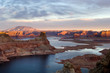 Leinwandbild Motiv sunset over lake powell