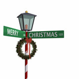 merry christmas street sign 3 poster