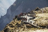 overview in the colca canyon,peru poster