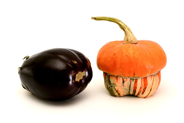 eggplant and pumpkin