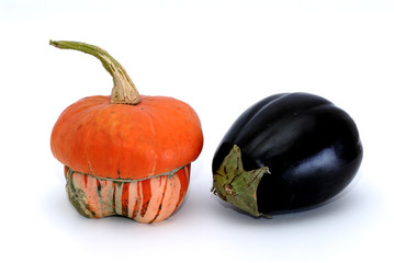 pumpkin and eggplant