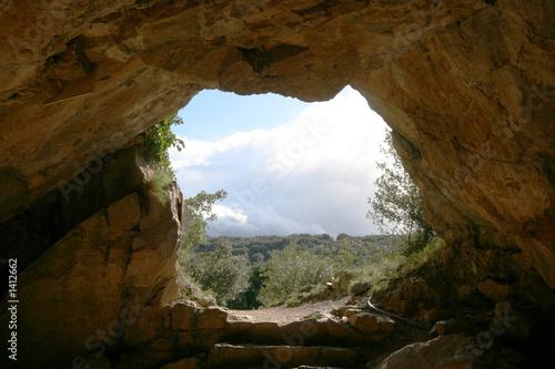 wyjście z jaskini