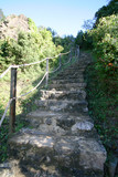 steep stone stairs poster