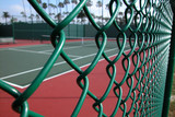 tennis court fence poster