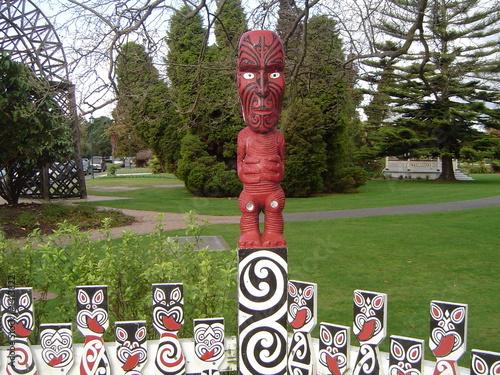 Keuken foto achterwand Nieuw Zeeland sculpture maorie