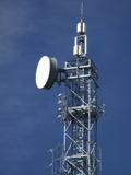 wireless gsm transmitter tower top poster