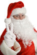 santa claus peace sign